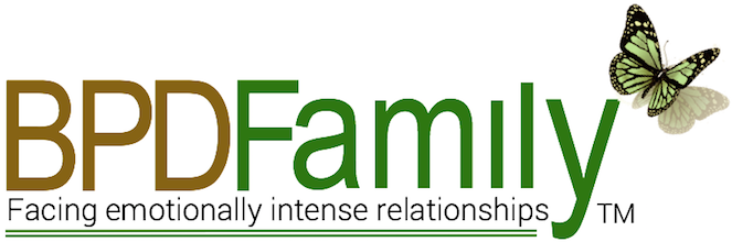 Home page of BPDFamily.com, online relationship support